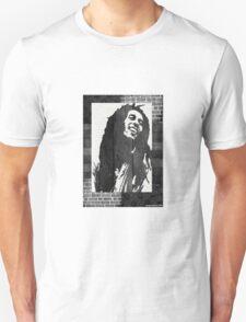 Bob Marley Black & White Print Unisex T-Shirt