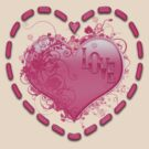 Love Hearts .. tee shirt by LoneAngel