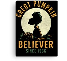 Great Pumpkin Believer Canvas Print