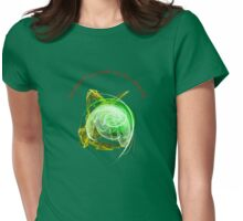 Model Yourself on a Green World Womens Fitted T-Shirt