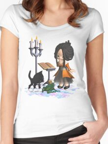 A witch in big trouble .. tee shirt Women's Fitted Scoop T-Shirt