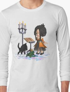 A witch in big trouble .. tee shirt Long Sleeve T-Shirt