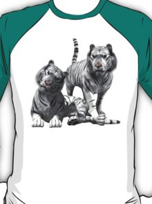 White Tigers .. Tee Shirt T-Shirt