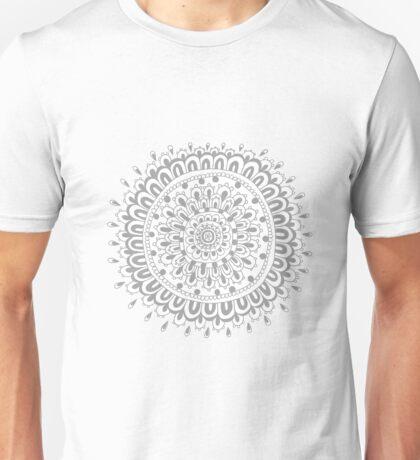 Grey Mandala  Unisex T-Shirt