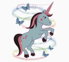 Pretty Unicorn .. tee shirt Kids Tee