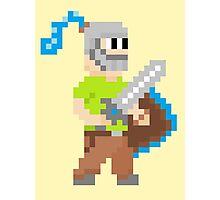 Pixel Knight! Photographic Print