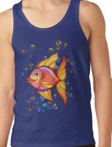 Happy Colorful Fish  Tank Top
