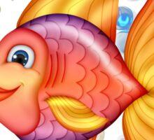 Happy Colorful Fish  Sticker