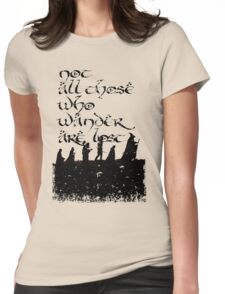 Not all those... Womens Fitted T-Shirt