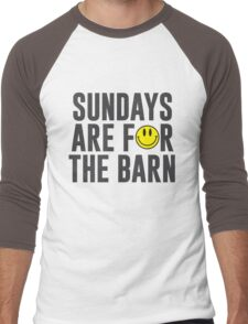 Sundays Are For The Barn with Smiley Face Men's Baseball ¾ T-Shirt