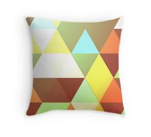 Autumnal Geometry Throw Pillow