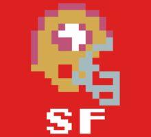 Tecmo Bowl San Francisco 49ers Football 8-Bit NES Nintendo Helmet Shirt T-shirt One Piece - Short Sleeve