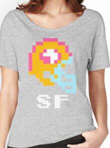 Tecmo Bowl San Francisco 49ers Football 8-Bit NES Nintendo Helmet Shirt T-shirt Women's Relaxed Fit T-Shirt