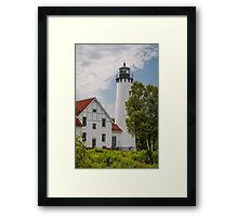 Point Iroquois Lighthouse - Michigan Framed Print