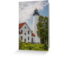 Point Iroquois Lighthouse - Michigan Greeting Card
