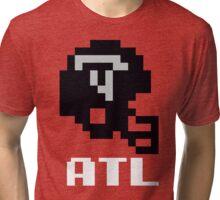 Tecmo Bowl Atlanta Falcons Football 8-Bit NES Nintendo Helmet Shirt T-shirt Tri-blend T-Shirt