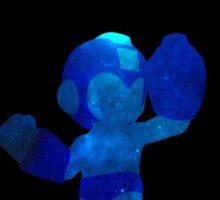 Megaman Minimalist Nebula Design Sticker
