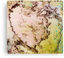 Eye catching mossy abstract ink pattern design  Canvas Print