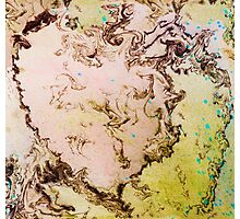 Eye catching mossy abstract ink pattern design  Photographic Print
