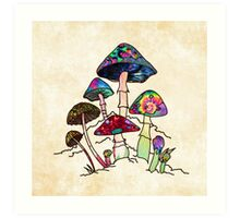 Garden of Shroomz Art Print
