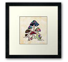 Garden of Shroomz Framed Print
