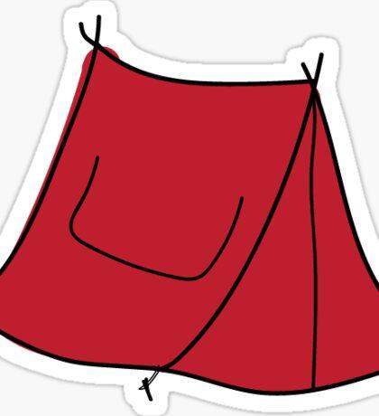 Red Tent Sticker