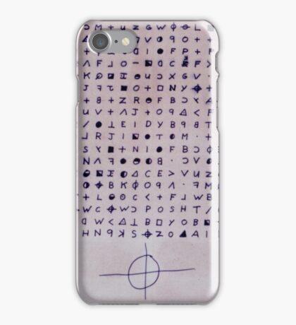 Zodiac Killer, Cipher, Symbol, True Crime, Serial Killer, Mystery iPhone Case/Skin