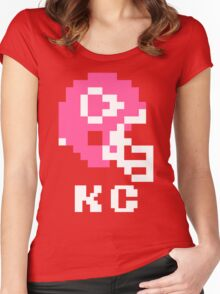 Tecmo Bowl Kansas City Chiefs Football 8-Bit NES Nintendo Helmet Shirt T-shirt Women's Fitted Scoop T-Shirt