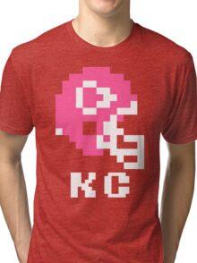 Tecmo Bowl Kansas City Chiefs Football 8-Bit NES Nintendo Helmet Shirt T-shirt Tri-blend T-Shirt
