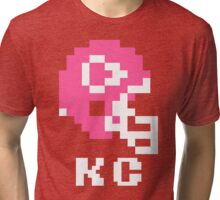 Tecmo Bowl Kansas City Chiefs Football 8-Bit NES Nintendo Helmet Shirt T-shirt Tri-blend T-Shirt