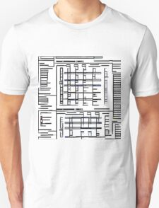 Abstract Black Ferry Schedule  Unisex T-Shirt