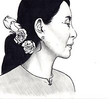 Aung San Suu Kyi Illustration by sianbrierley