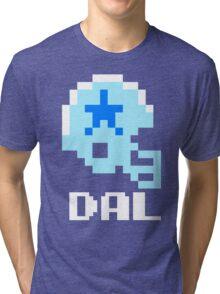 Tecmo Bowl Dallas Cowboys Football 8-Bit NES Nintendo Helmet Shirt T-shirt Tri-blend T-Shirt