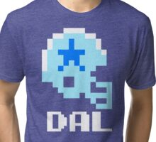 Tecmo Bowl Dallas Cowboys Football 8-Bit NES Nintendo Helmet Shirt T-shirt Tri-blend T-Shirt