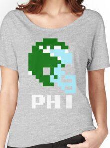 Tecmo Bowl Philadelphia Eagles Football 8-Bit NES Nintendo Helmet Shirt T-shirt Women's Relaxed Fit T-Shirt