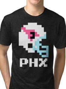 Tecmo Bowl Arizona Cardinals Football 8-Bit NES Nintendo Helmet Shirt T-shirt Tri-blend T-Shirt