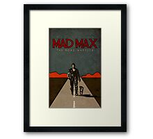 MAD MAX - The Road Warrior Custom Poster Framed Print