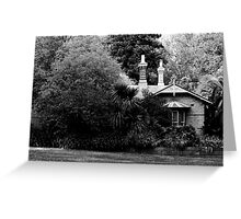 Garden in Balck & White Greeting Card
