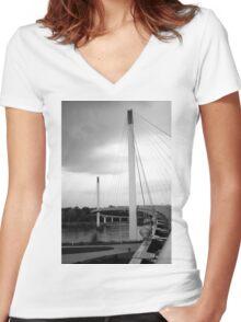 Bob Kerry Pedestrian Bridge Women's Fitted V-Neck T-Shirt