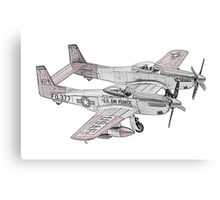 North American F-82 Twin Mustang Canvas Print