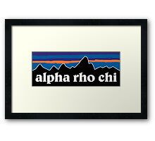 Alpha Rho Chi with Mountain Background Framed Print