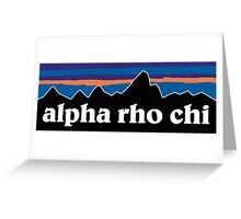 Alpha Rho Chi with Mountain Background Greeting Card
