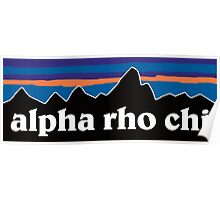 Alpha Rho Chi with Mountain Background Poster