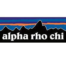 Alpha Rho Chi with Mountain Background Photographic Print