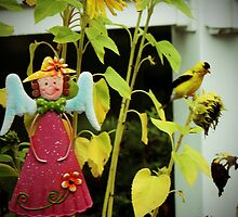 Sunflowers and Finches - 1 of 9 by Rosemary Sobiera