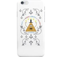 Bill Cipher -- Art Nouveau iPhone Case/Skin