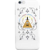 Bill Cipher -- Art Nouveau iPhone Case/Skin