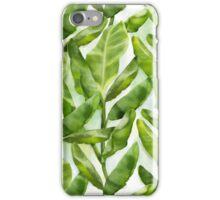 Banana leaves pattern iPhone Case/Skin