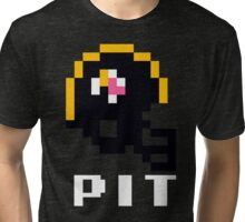 Tecmo Bowl Pittsburgh Steelers Football 8-Bit NES Nintendo Helmet Shirt T-shirt Tri-blend T-Shirt