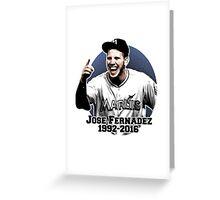Jose Fernandez Greeting Card